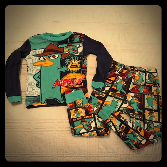 25a7dcca57c5 Disney Other - Boys Perry The Platypus pajamas